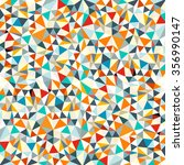 abstract vector retro triangles ... | Shutterstock .eps vector #356990147