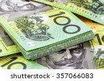 australian one hundred dollar... | Shutterstock . vector #357066083