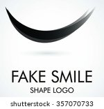 curve smile of silhouette... | Shutterstock .eps vector #357070733