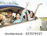 happy young group having fun in ... | Shutterstock . vector #357079337