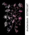 hand drawing flowers and... | Shutterstock .eps vector #357081167