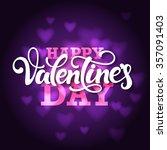 typographic design 'happy... | Shutterstock .eps vector #357091403