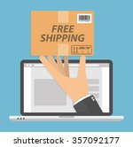 ordering online and delivery... | Shutterstock .eps vector #357092177