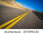 Empty Desert Highway Leads Int...