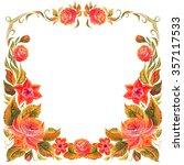 frame for design in the style... | Shutterstock . vector #357117533