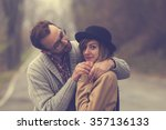 hipster couple in love. | Shutterstock . vector #357136133