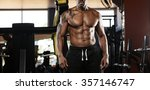 portrait of a handsome muscular ... | Shutterstock . vector #357146747