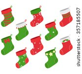 christmas stocking collections | Shutterstock .eps vector #357185507
