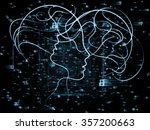 human tangents series. abstract ... | Shutterstock . vector #357200663