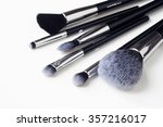 selection of makeup brushes... | Shutterstock . vector #357216017