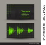 music business card with audio... | Shutterstock .eps vector #357219227