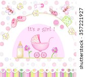 baby shower card   Shutterstock .eps vector #357221927