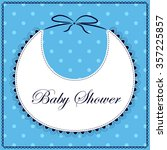 vector card baby shower with... | Shutterstock .eps vector #357225857