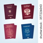 passport of united states of... | Shutterstock .eps vector #357226043