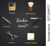 collection of barber related... | Shutterstock .eps vector #357240977
