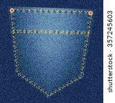 Back Pocket Of Blue Jeans Clos...
