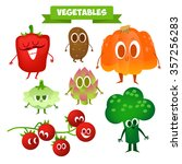 a set of cute vegetables.... | Shutterstock .eps vector #357256283