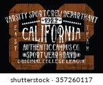 california varsity sport vector ... | Shutterstock .eps vector #357260117