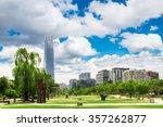 santiago de chile at summer | Shutterstock . vector #357262877