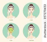 basic skincare steps icons | Shutterstock .eps vector #357270653