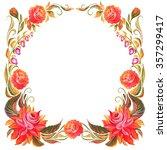 frame for design in the style... | Shutterstock . vector #357299417