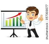 businessman presenting on a... | Shutterstock .eps vector #357303077