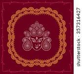 durga goddess of power raster... | Shutterstock . vector #357316427