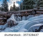 Beautiful Frozen Waterfall In...