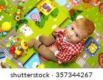 little boy with big blue eyes... | Shutterstock . vector #357344267