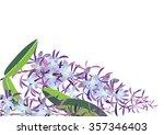 petrea volubilis purple color...   Shutterstock .eps vector #357346403