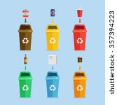 waste management concept... | Shutterstock .eps vector #357394223