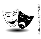 theater icon with happy and sad ... | Shutterstock .eps vector #357397367
