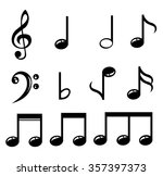 set of music notes vector  | Shutterstock .eps vector #357397373