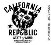 california republic vintage... | Shutterstock .eps vector #357399203