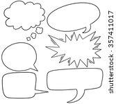 vector set of speech bubbles   Shutterstock .eps vector #357411017