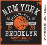 new york basketball  t shirt... | Shutterstock .eps vector #357413633