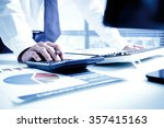 businessman analyzing... | Shutterstock . vector #357415163