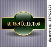 autumn collection golden badge | Shutterstock .eps vector #357432923