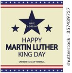 martin luther king card or... | Shutterstock .eps vector #357439727