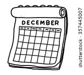 calendar of december   cartoon... | Shutterstock .eps vector #357445007