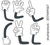 vector set of cartoon arm | Shutterstock .eps vector #357449567