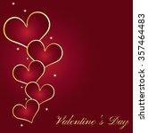 happy valentines day... | Shutterstock .eps vector #357464483