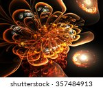 Dark Orange Fractal Flower ...