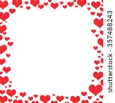 red different shaped hearts... | Shutterstock . vector #357488243