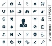 medical icons vector set | Shutterstock .eps vector #357493037