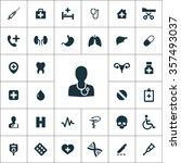 medical icons vector set | Shutterstock .eps vector #357493037