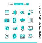 music  sound  recording ... | Shutterstock .eps vector #357493577
