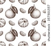 seamless pattern with ink hand... | Shutterstock . vector #357501557