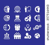 business set of icons. | Shutterstock .eps vector #357516443