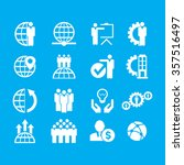 business set of icons. | Shutterstock .eps vector #357516497